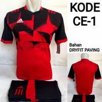 1 lusin/12 set baju kaos olahraga jersey stelan futsal voley bola CE-1