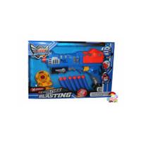 Mainan Anak Pistol Nerf Soft Bullet Gun Rapid Fire Dart Blasting Gun