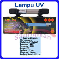 Lampu UV SubmersIble Sterilizer Lamp Aquarium AQURA ASP UV 5 Watt