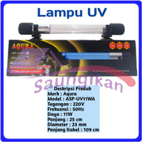 Lampu UV SubmersIble Sterilizer Lamp Aquarium AQURA ASP UV 11 Watt
