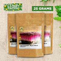 Benih Sayur Microgreens Red Amaranth - Bayam Merah ( 25 Gram )