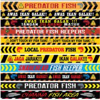 Stiker List Aquarium Predator 80cm