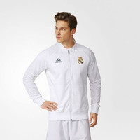 Adidas real madrid anthem jacket white original bnwt