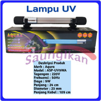 Lampu UV SubmersIble Sterilizer Lamp Aquarium AQURA ASP UV 9 Watt