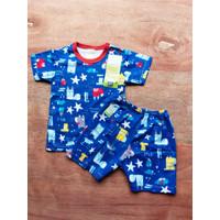 Baju Bayi | Baju Setelan tangan Pendek | Tee Merk Velvet 18 - 24 Bulan