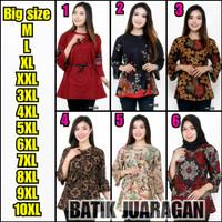 Batik Wanita Blouse Atasan Modern - Size M-L-XL-XXL-3L-4L-5L JUMBO