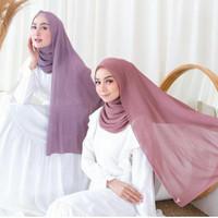 pashmina pleated shawl plisket pasmina plisket pliskit pliskert lidi - NAVY