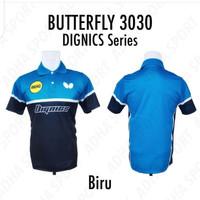 BAJU PINGPONG BUTTERFLY DIGNICS SERIES 3030 BIRU KAOS TENIS MEJA G.O