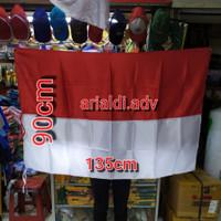 bendera merah putih ukuran 90×135 cm bahan satin