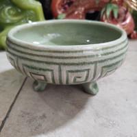 Guci Tekstur Vietnam Keramik Porcelain D 14cm / Barang Antik Tua Kuno