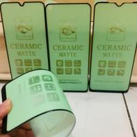 Temper glass ceramic matte green ligh iPhone 6/6s/6+/7/7+/8/8+/x/xr.