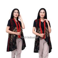 Batik Wanita Cardigan Ulir Kombinasi-Outer Batik-Rompi Batik Panjang - S