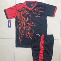 baju olahraga set ANAK MIZUNO (BULU) kaos futsal badminton dan volly