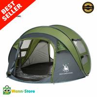 Tenda Camping 4 Orang Windproof Waterproof Outdoor Tenda Kemah Hiking - Hijau