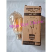 Lampu Vintage LED Bulb Sunsonic Warm White 4 W Watt Cahaya Kuning