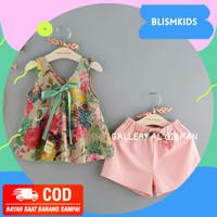 Setelan Baju Pakaian Anak Perempuan cewek Import Terbaru 2 3 4 tahun