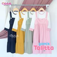 Baju Gamis Muslim Anak Perempuan Thalita usia 2 3 4 5 6 7 8 9 Tahun