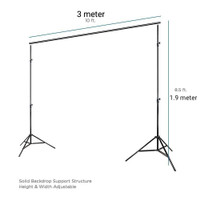 Standing background stand backdrop tiang layar kain foto photo studio