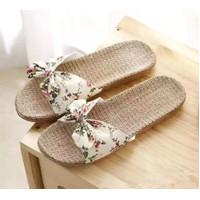 SANDAL WANITA Bunga Flat Sandals
