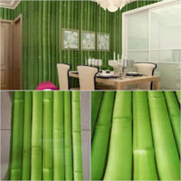 wallpaper stiker dinding motif pohon bambu
