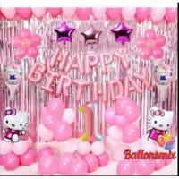 dekorasi set hello kitty/balon ulang tahun
