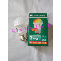 Lampu LED Sunsonic RGB 3 W Watt Bohlam Warna Warni 3watt 3W Bulb