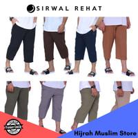 Celana Sirwal Ankle Pants Pria Dewasa Cingkrang Pangsi Semi Formal 7/8 - L