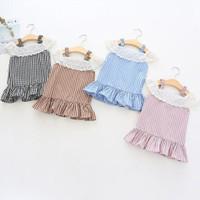 Dress Sabrina Kotak / Baju Kotak Anak Perempuan Import