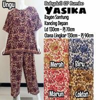 Setelan Babydolls Batik Celana Panjang Super Jumbo