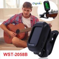 Tuner Gitar Cherub WST-2058B Guitar Clip On Tuner Chromatic Gitar Bass