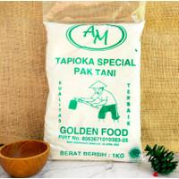 AM- Tepung Tapioka / Kanji / Merk AM Cap Pak Tani 1kg - MURAH!!!