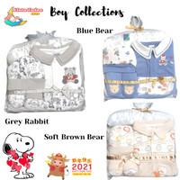 Baju Bayi Jumper Baby Boy Gift Set 0-3M Kado - SOFT BROWN BEAR