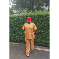 Baju Oka SET DOKTER Perawat JAGA malam, seragam medis SCRUB KATUN
