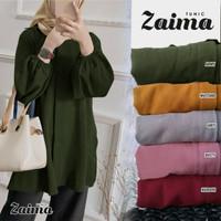Tunic Zaima Army [Gamis 0152] UBE Baju Gamis Wanita Terbaru