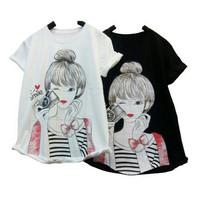 T-shirt / Kaos Wanita Morning Selfie Girl