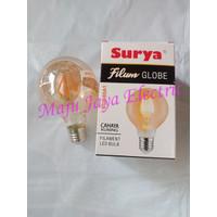 Lampu LED Filamen Surya Filum Globe SGF 80A1 Warm White 6W 6 W Watt