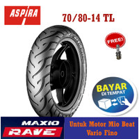 Ban Motor Depan Matic Aspira Maxio Rave 70/80-14 Tubeless Mio Beat