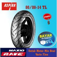 Ban Motor Depan Matic Aspira Maxio Rave 80/80-14 Tubles Mio Beat Vario