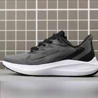 Sepatu Nike Air Zoom Winflo 7 Dark Grey Black