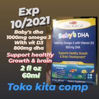 OSLOMEGA BABY'S DHA 1000MG OMEGA -3 WITH D3 800MG DHA (2 FL OZ) 60ML