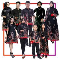 Set Batik Keluarga / Couple bapak ibu / Setelan keluarga Motif Kipas - Hem Anak, M