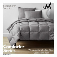 Marvelo Bed Cover Set Katun warna Abu abu size 140 cm
