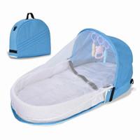 Diapper Bag Bayi 3 in 1 Bisa jadi Tas Kasur Dilengkapi dengan Kelambu