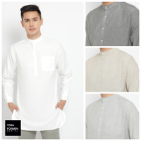 Baju Koko Kurta Pria Salman - Toraformen Lengan Panjang Premium Katun
