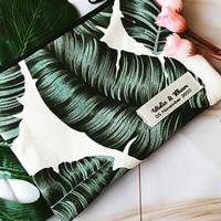 Souvenir Pernikahan Murah Pouch Kanvas Label Nama/Dompet