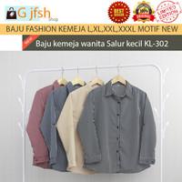Baju atasan blouse kemeja wanita salur kecil terbaru premium quality