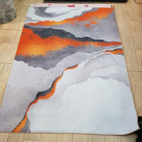 Tobby Karpet Lantai 3Dimensi Lava Red Gold Emas White