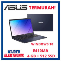 LAPTOP ASUS E410MA N4020 4GB 512 SSD WDW 10 GARANSI RESMI TERMURAH - H