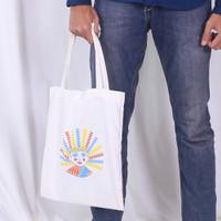 Tote Bag Tas Jinjing Wanita Pria Indonesi Ondel Ondel Jakarta - Putih