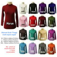 NFM Premium Baju Manset Wanita Baju Spandex Daleman Manset Krah Tinggi
